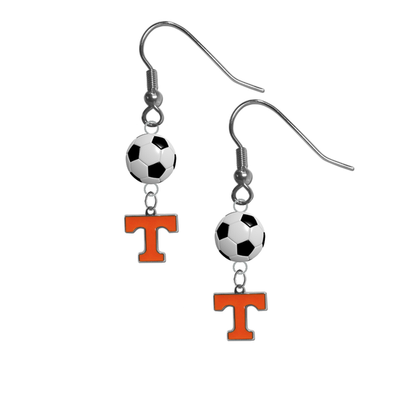 Tennessee Volunteers NCAA Soccer Dangle Earrings
