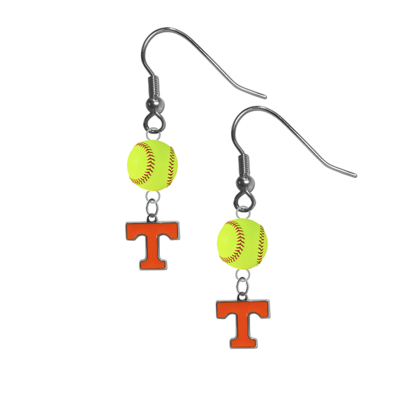 Tennessee Volunteers NCAA Fastpitch Softball Dangle Earrings
