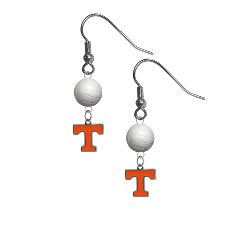 Tennessee Volunteers NCAA Volleyball Dangle Earrings