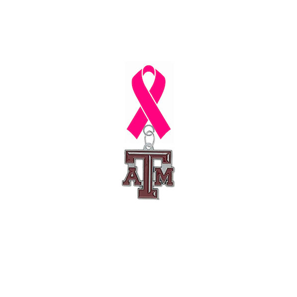 Texas A&M Aggies Breast Cancer Awareness / Mothers Day Pink Ribbon Lapel Pin