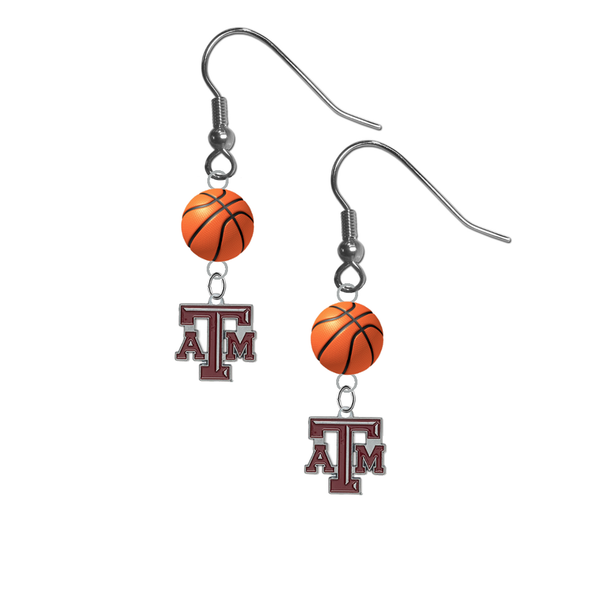 Texas A&M Aggies NCAA Basketball Dangle Earrings