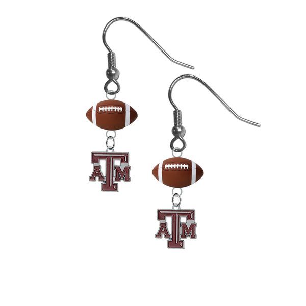 Texas A&M Aggies NCAA Football Dangle Earrings