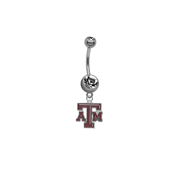 Texas A&M Aggies NCAA College Belly Button Navel Ring
