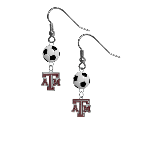 Texas A&M Aggies NCAA Soccer Dangle Earrings