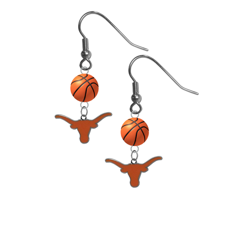 Texas Longhorns NCAA Basketball Dangle Earrings
