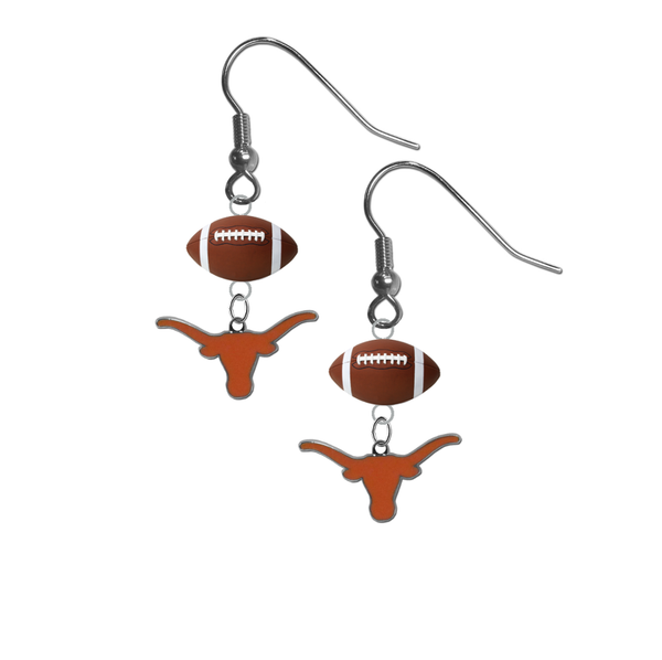 Texas Longhorns NCAA Football Dangle Earrings