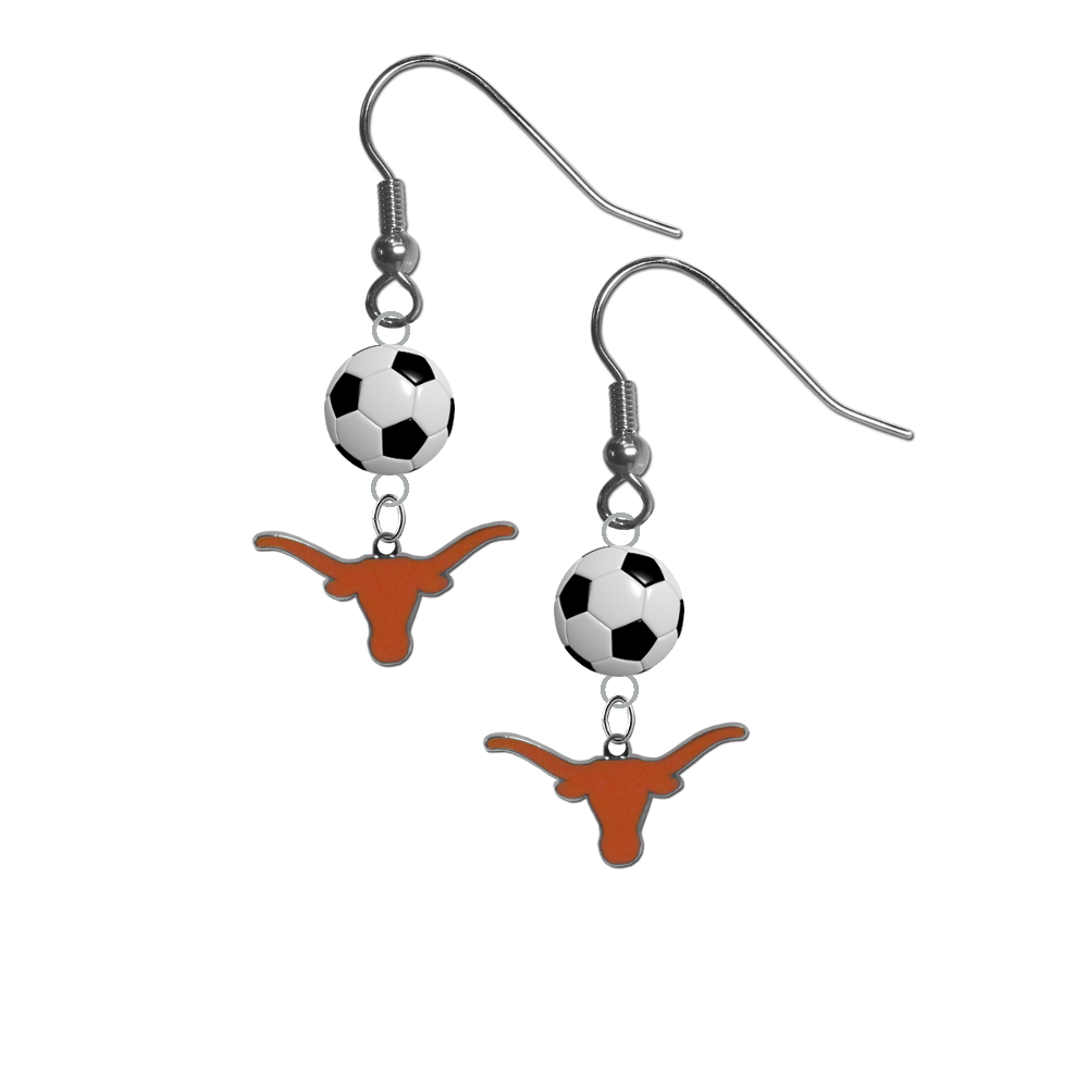 Texas Longhorns NCAA Soccer Dangle Earrings