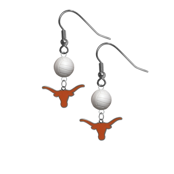 Texas Longhorns NCAA Volleyball Dangle Earrings