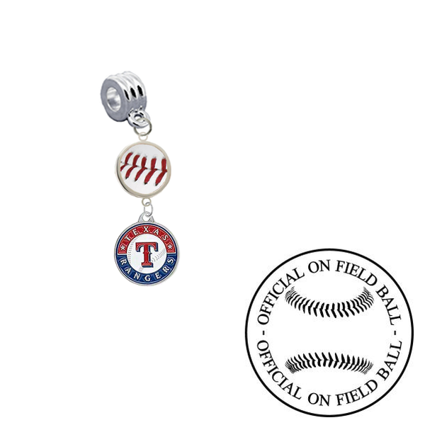 Texas Rangers On Field Baseball Universal European Bracelet Charm (Pandora Compatible)