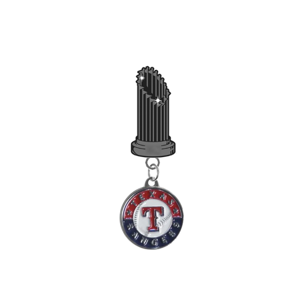 Texas Rangers MLB World Series Trophy Lapel Pin