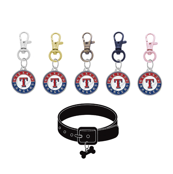 Texas Rangers MLB Pet Tag Dog Cat Collar Charm