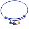 Texas San Antonio Roadrunners BLUE Color Edition Expandable Wire Bangle Charm Bracelet