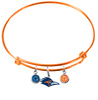 Texas San Antonio Roadrunners ORANGE Color Edition Expandable Wire Bangle Charm Bracelet