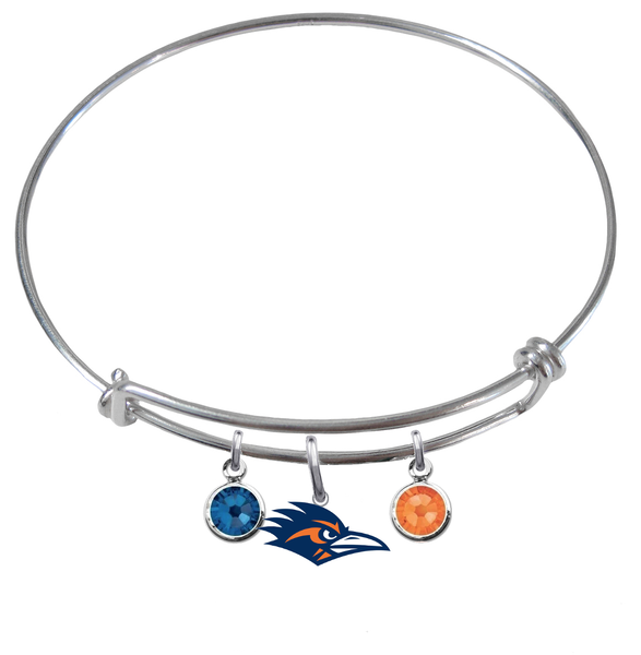 Texas San Antonio Roadrunners NCAA Expandable Wire Bangle Charm Bracelet