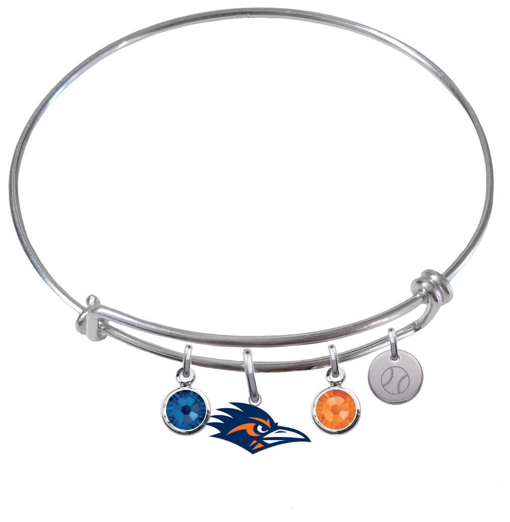 Texas San Antonio Roadrunners Baseball Expandable Wire Bangle Charm Bracelet