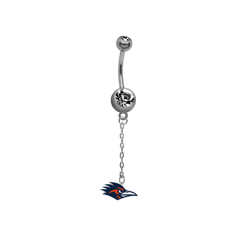 Texas San Antonio Roadrunners Dangle Chain Belly Button Navel Ring