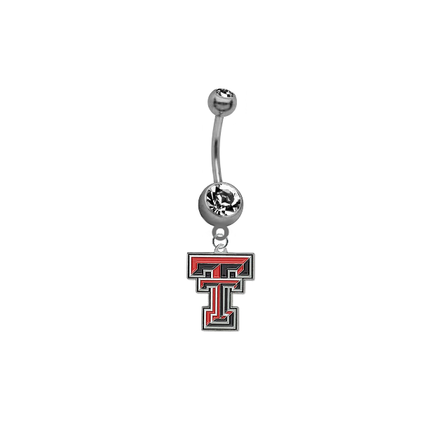 Texas Tech Red Raiders NCAA College Belly Button Navel Ring