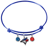 Toronto Blue Jays Blue MLB Expandable Wire Bangle Charm Bracelet