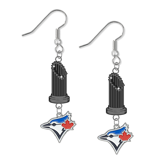 Toronto Blue Jays MLB World Series Trophy Dangle Earrings