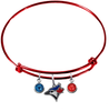 Toronto Blue Jays Red MLB Expandable Wire Bangle Charm Bracelet