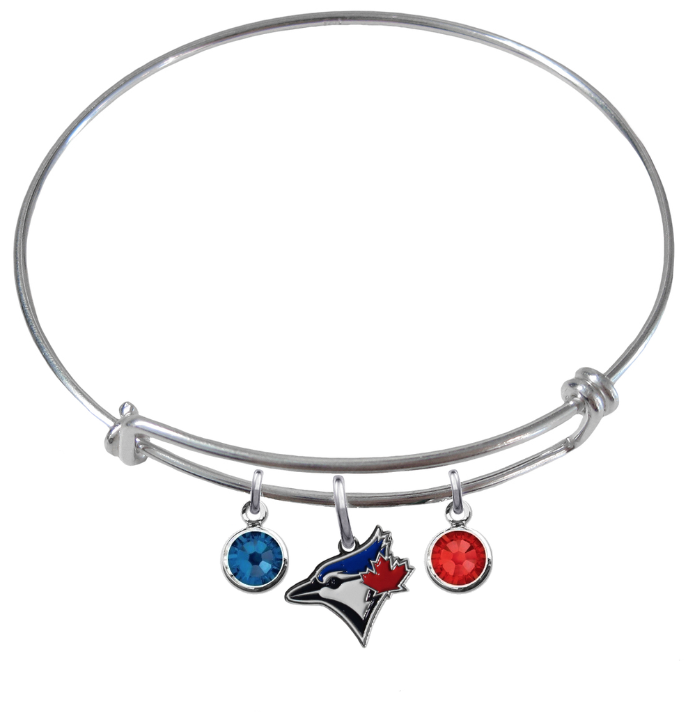 Toronto Blue Jays MLB Expandable Wire Bangle Charm Bracelet