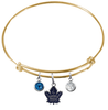 Toronto Maple Leafs Color Edition GOLD Expandable Wire Bangle Charm Bracelet