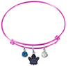 Toronto Maple Leafs Color Edition PINK Expandable Wire Bangle Charm Bracelet