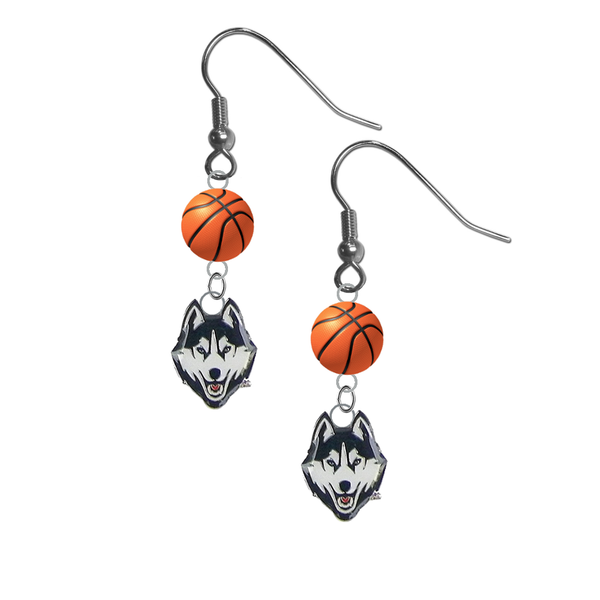 UConn Connecticut Huskies NCAA Basketball Dangle Earrings