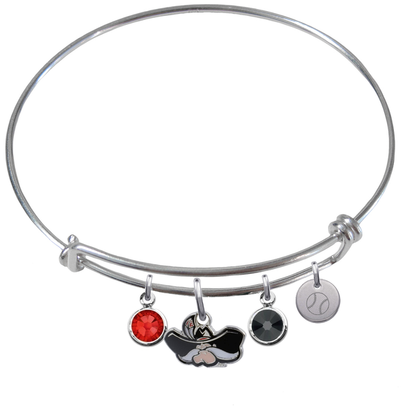 UNLV Runnin Rebels Baseball Expandable Wire Bangle Charm Bracelet