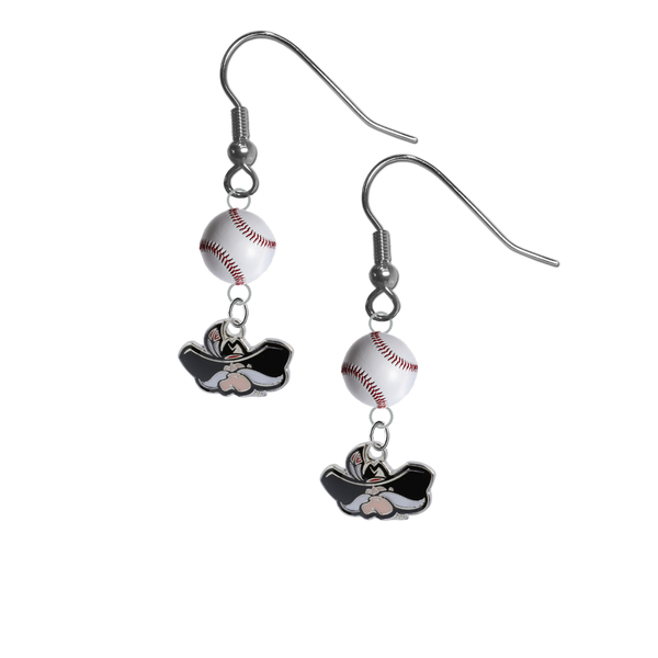 UNLV Las Vegas Rebels NCAA Baseball Dangle Earrings