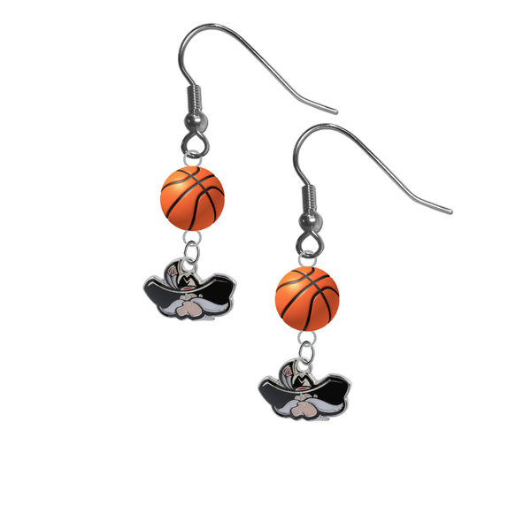 UNLV Las Vegas Rebels NCAA Basketball Dangle Earrings