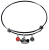 UNLV Las Vegas Rebels BLACK Expandable Wire Bangle Charm Bracelet