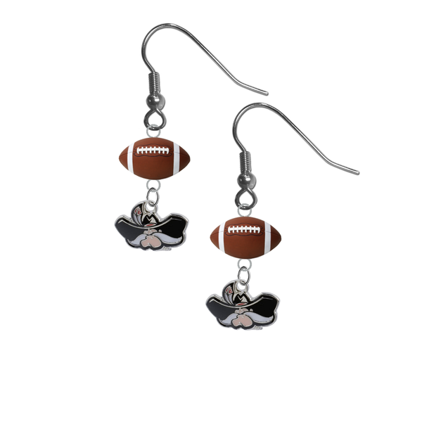 UNLV Las Vegas Rebels NCAA Football Dangle Earrings