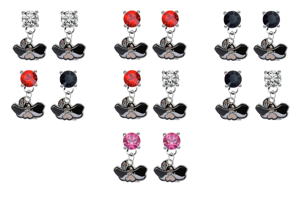 UNLV Las Vegas Rebels NCAA Swarovski Crystal Stud Rhinestone Earrings