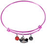 UNLV Las Vegas Rebels PINK Expandable Wire Bangle Charm Bracelet