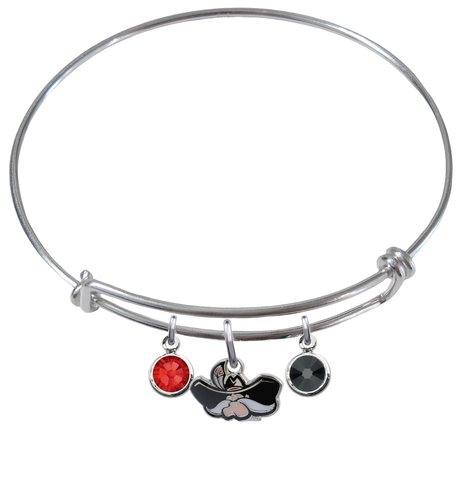 UNLV Las Vegas Rebels NCAA Expandable Wire Bangle Charm Bracelet