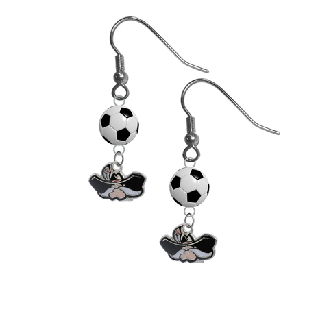 UNLV Las Vegas Rebels NCAA Soccer Dangle Earrings