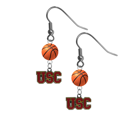 USC Southern California Trojans NCAA Basketball Dangle Earrings