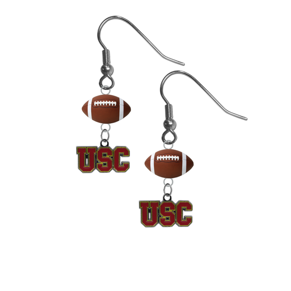USC Southern California Trojans NCAA Football Dangle Earrings