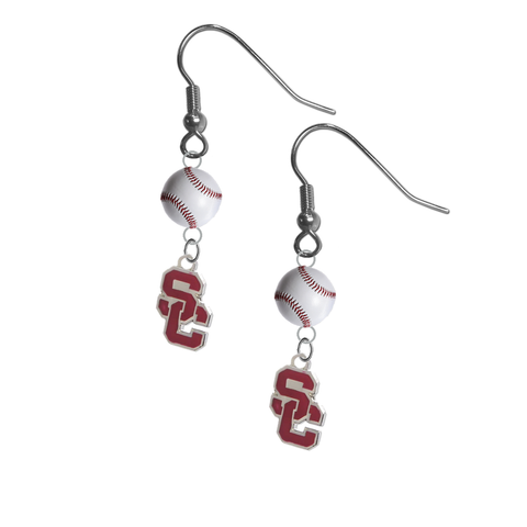 USC Southern California Trojans Style 2 NCAA Baseball Dangle Earrings