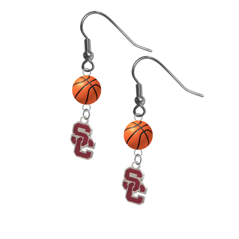 USC Southern California Trojans Style 2 NCAA Basketball Dangle Earrings