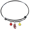 USC Southern California Trojans Style 2 BLACK Color Edition Expandable Wire Bangle Charm Bracelet