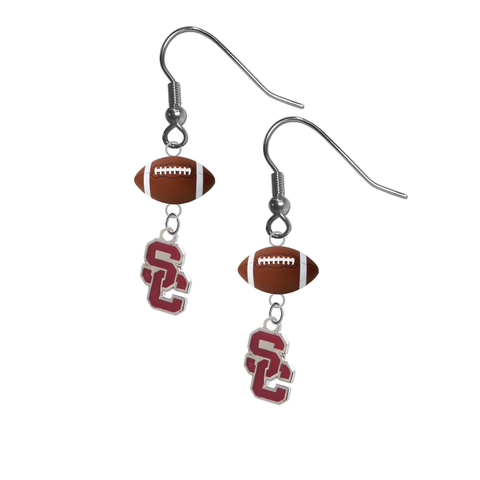 USC Southern California Trojans Style 2 NCAA Football Dangle Earrings