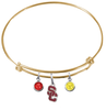 USC Southern California Trojans Style 2 GOLD Color Edition Expandable Wire Bangle Charm Bracelet