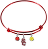 USC Southern California Trojans Style 2 RED Color Edition Expandable Wire Bangle Charm Bracelet