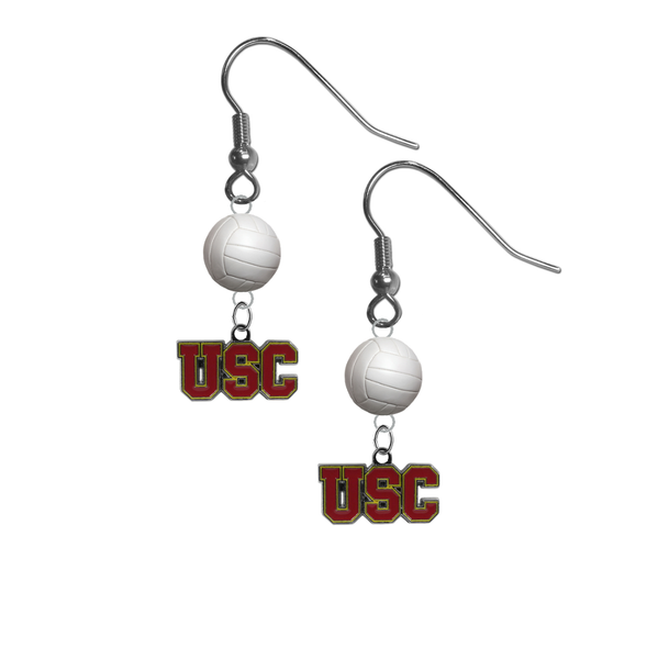 USC Southern California Trojans NCAA Volleyball Dangle Earrings