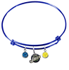 Utah Jazz BLUE Color Edition Expandable Wire Bangle Charm Bracelet