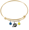 Utah Jazz GOLD Color Edition Expandable Wire Bangle Charm Bracelet