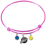 Utah Jazz PINK Color Edition Expandable Wire Bangle Charm Bracelet