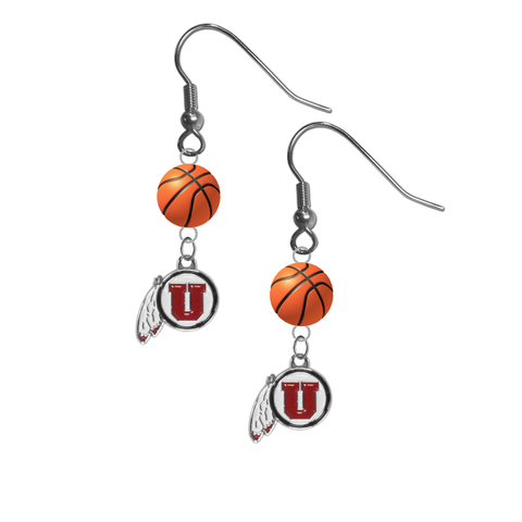 Utah Utes NCAA Basketball Dangle Earrings